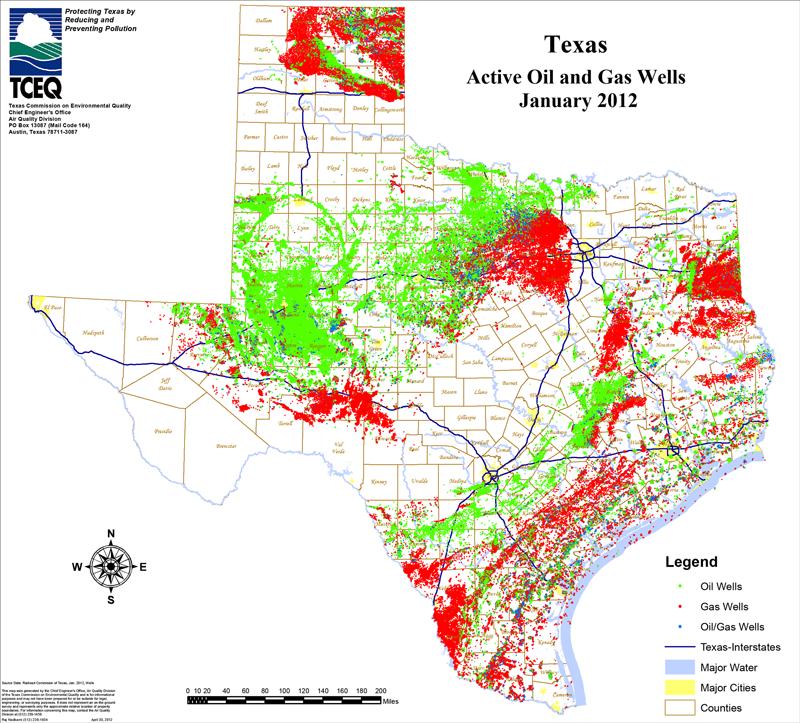 Texas Natural Gas Map