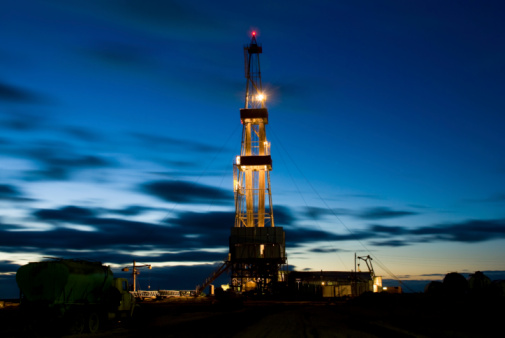 Drilling Rig at Night